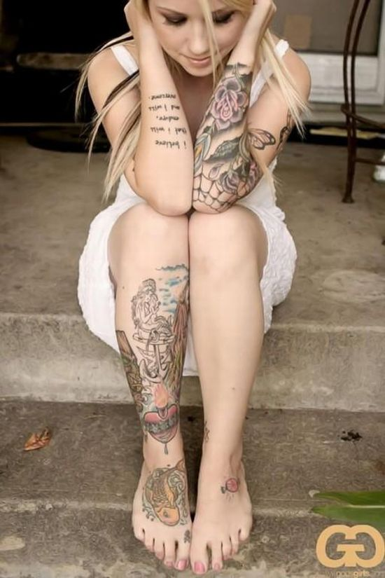 Фото красивых девушек с татуировкой фото 582-860