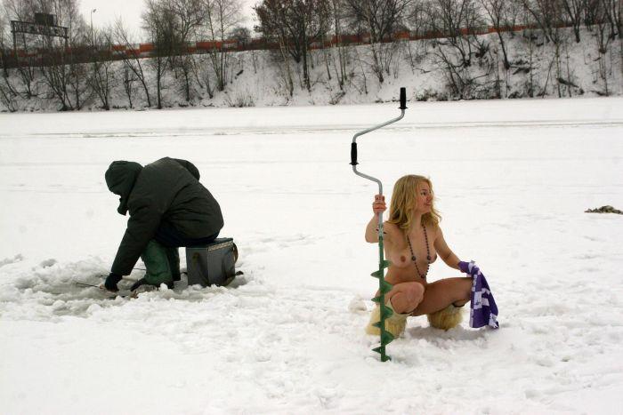 Зимняя рыбалка (45 фото) НЮ