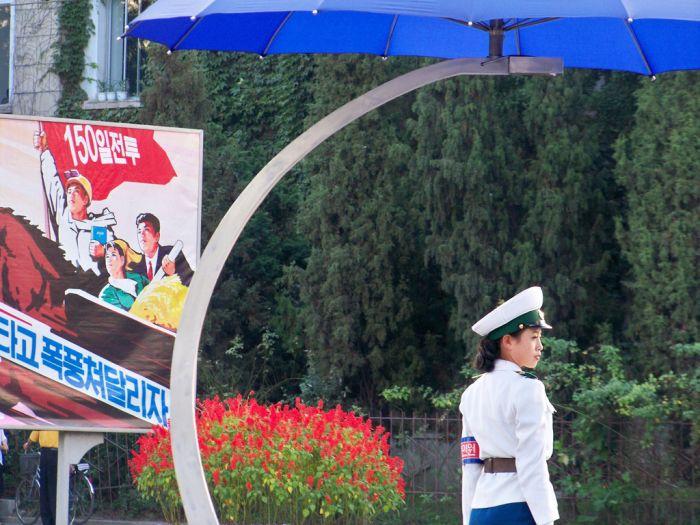 Девушки-регулировщицы из Пхеньяна (56 фото)