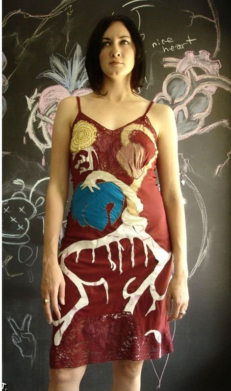Анатомические платья (6 фото)