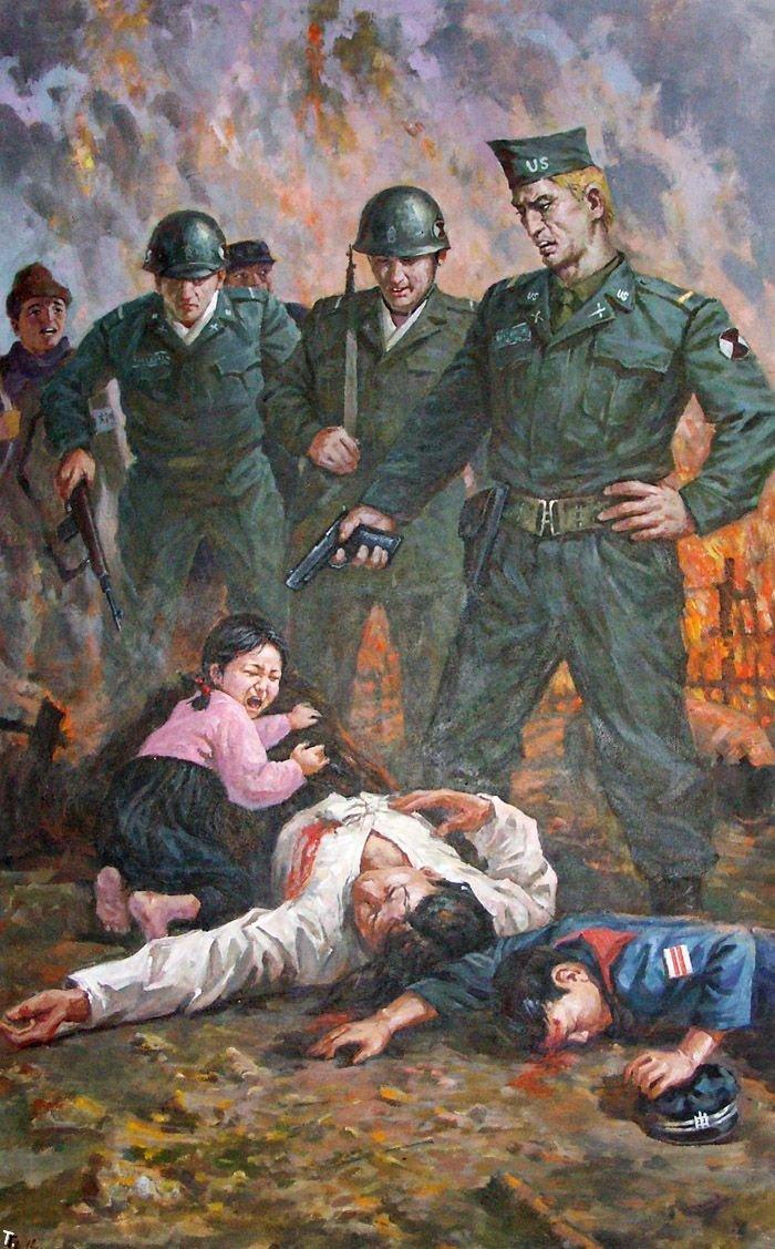 Анти-американская пропаганда из Северной Кореи (13 фото)