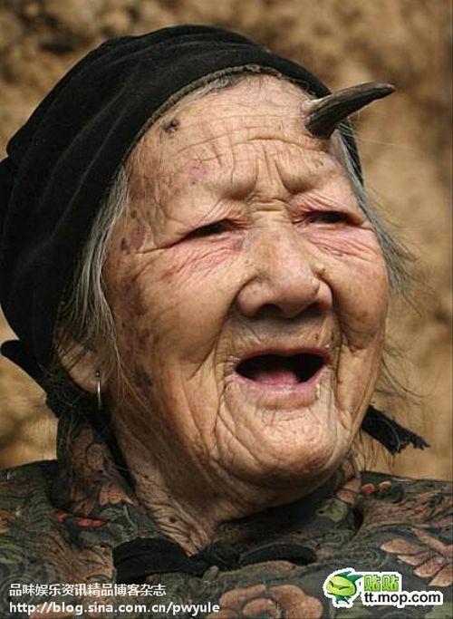 Китайская женщина с рогом (9 фото)