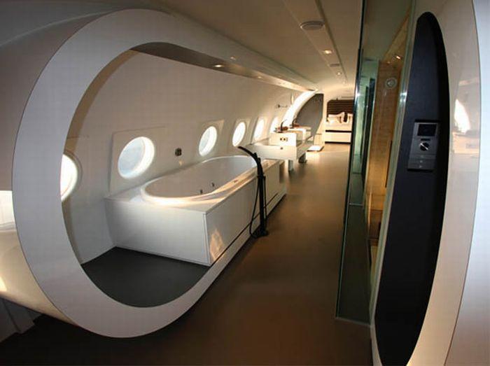 Гостиницы и дома в самолетах (35 фото)