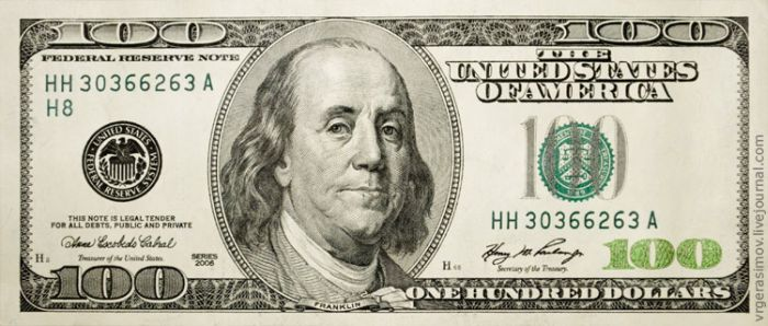 Макро-фотографии 100-долларовой купюры (14 фото)