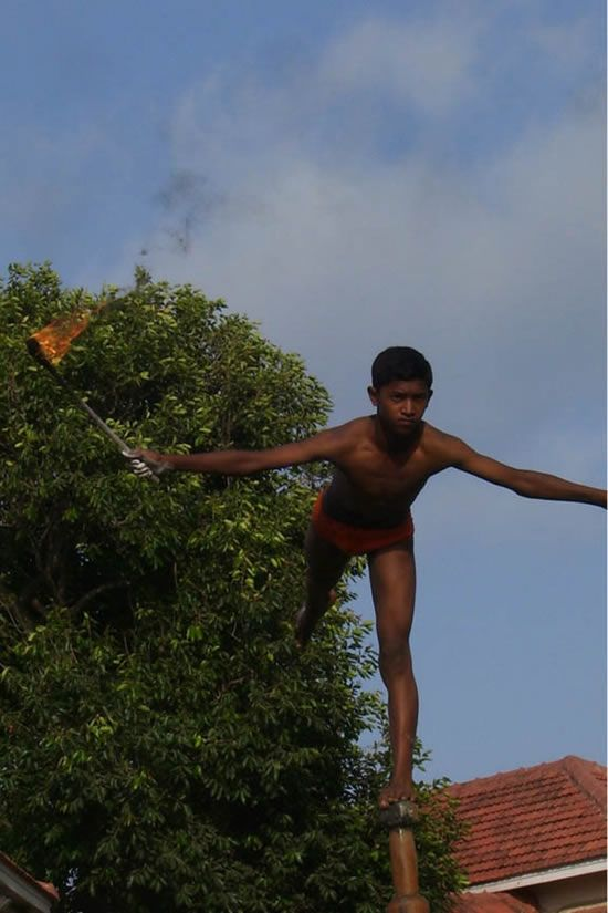 Маллакхамб - упражнения на шесте (15 фото)