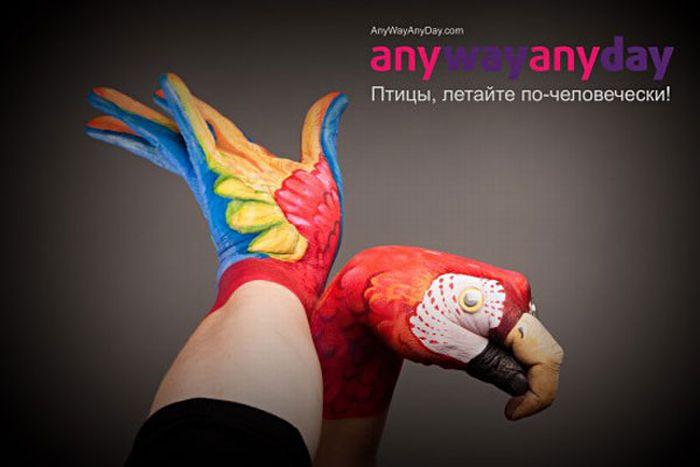 Раскрашенные руки в рекламе (32 фото)