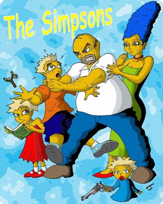 Работы поклонников мультсериала Симпсона (85 фото)