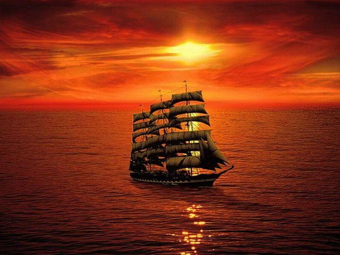 Картины с кораблями (27 фото)