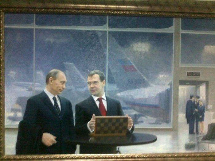 Современные картины в московской поликлинике (6 фото)