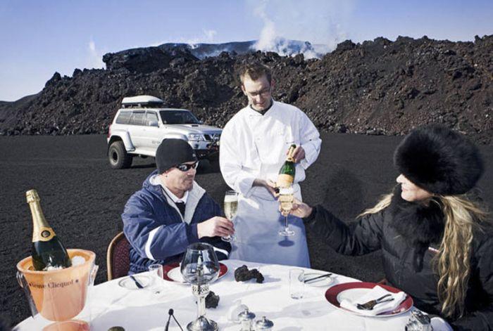 Завтрак у вулкана (10 фото)