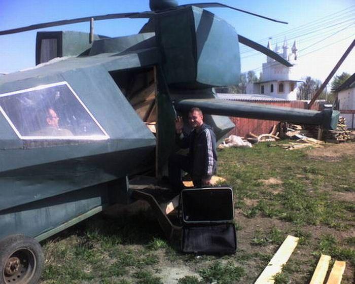 Дом в вертолете около Челябинска (5 фото)