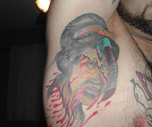 Татуировки на подмышках (11 фото)