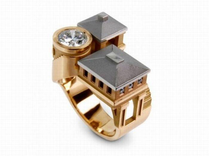Кольца с домами (12 фото)