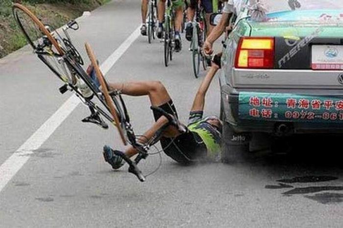 Велосипедисты-неудачники (18 фото)