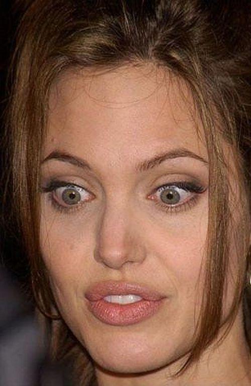 Смешные лица Анджелины Джоли (56 фото)