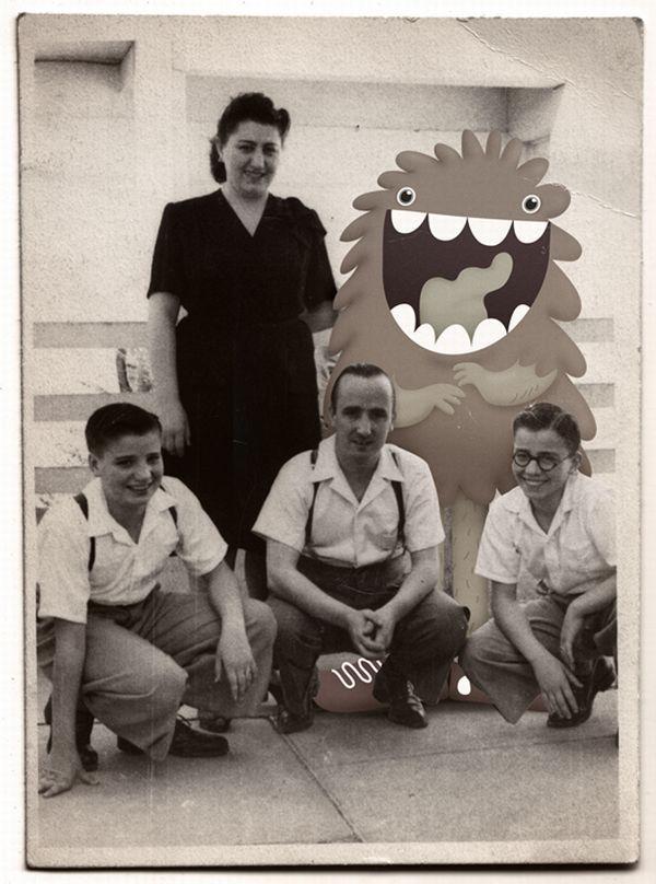 Монстры на старых фотографиях (50 фото)