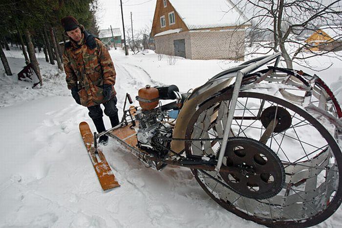 WarNet.ws: Снегоход своими руками (12 фото)