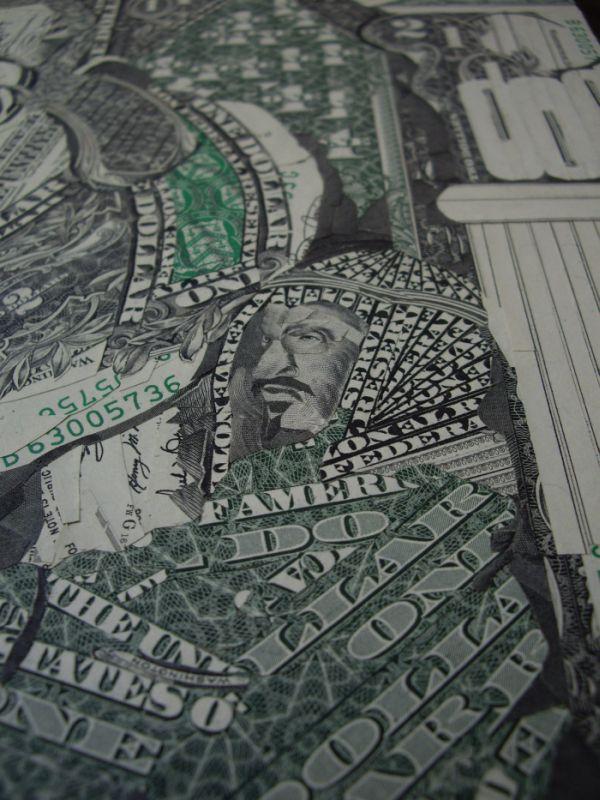 Мозаика из денег (20 фото)