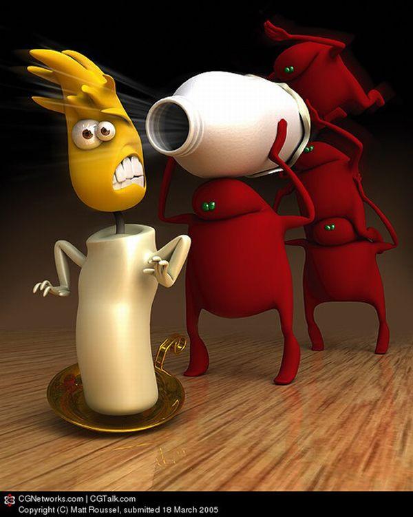 Смешные 3D персонажи (45 фото)