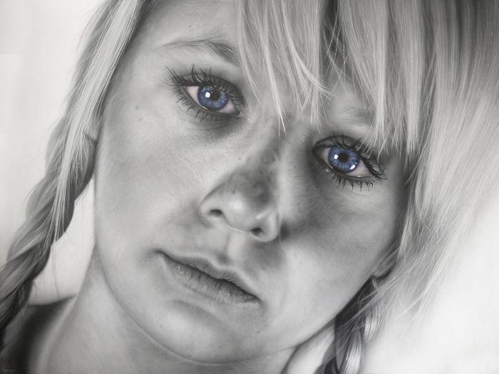 Красивые рисунки людей (14 фото)