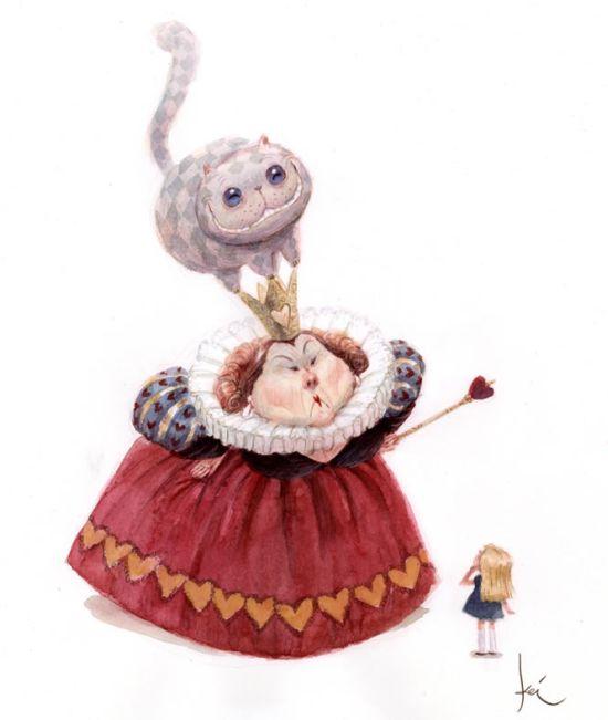 """Концептуальные рисунки """"Алиса в стране чудес"""" (20 картинок)"""