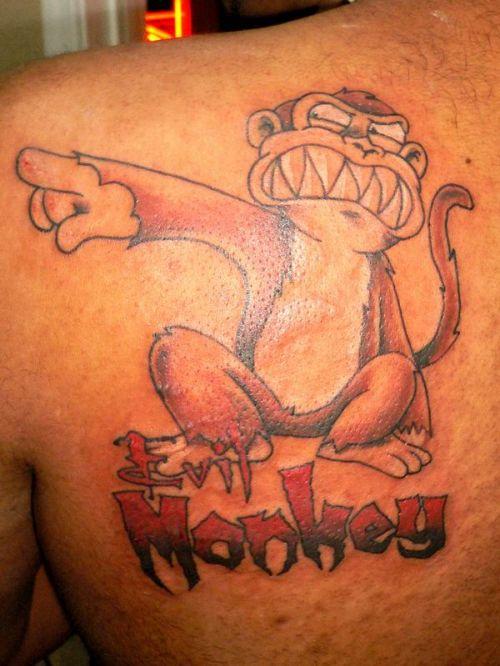 Татуировка обезьяна - значение, фото - Тату студия Барака 93