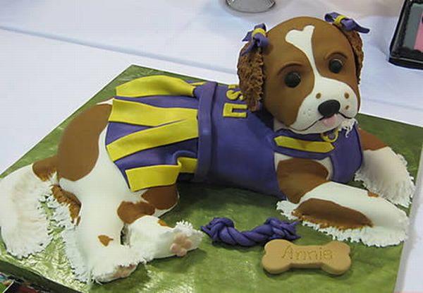Торты в форме собак (12 фото)