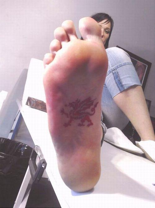 脚上的艺术,疯狂的纹身