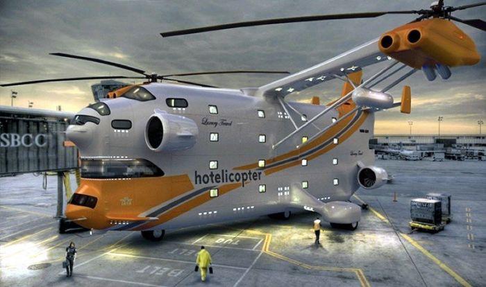 Вертолет-гостиница (9 фото)