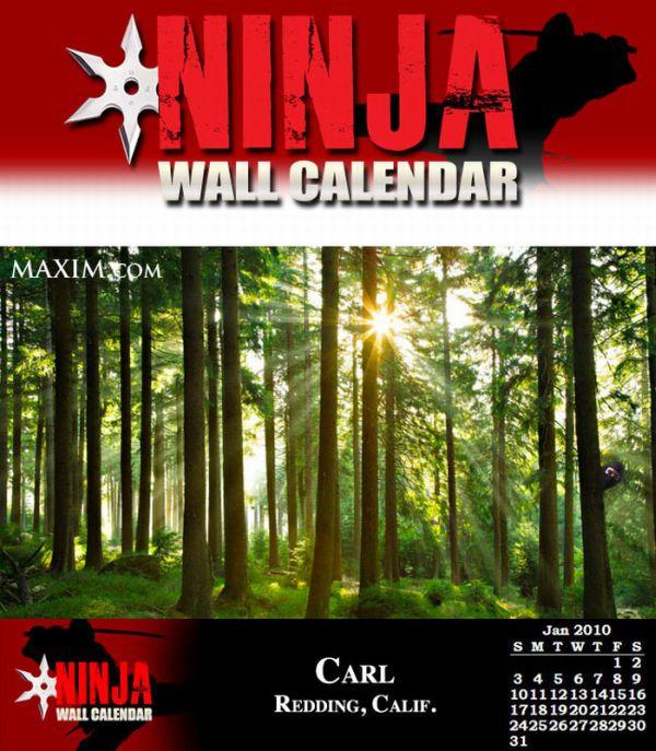 Если бы ниндзи выпустили свой календарь (12 фото)