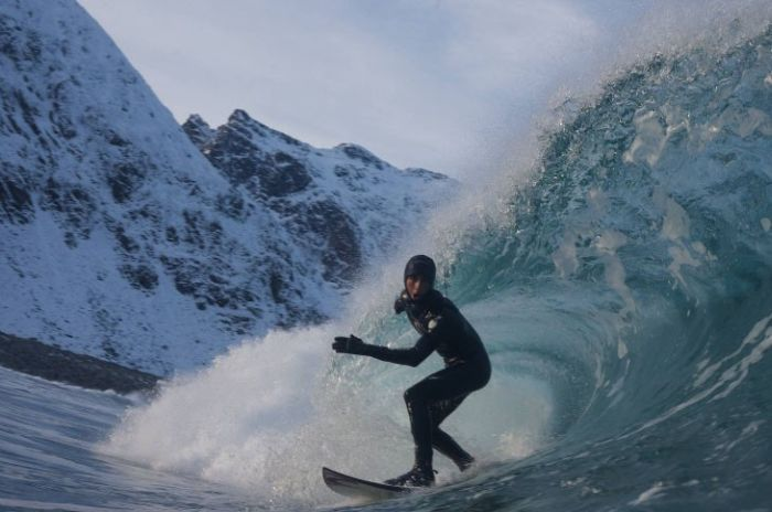 Зимний серфинг (8 фото)