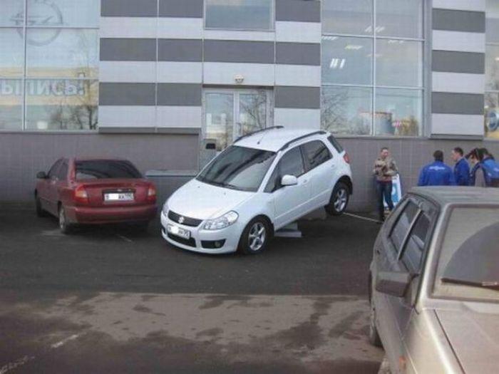 Блондинка припарковалась (5 фото)