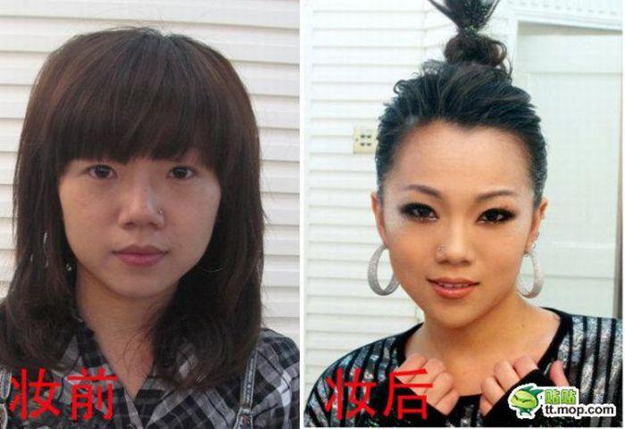 Финалисты китайского шоу талантов до и после макияжа (10 фото)