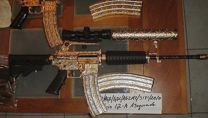 Оружие мексиканского наркобарона (9 фото)
