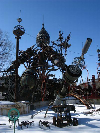 Огромные стимпанковские скульптуры (23 фото)
