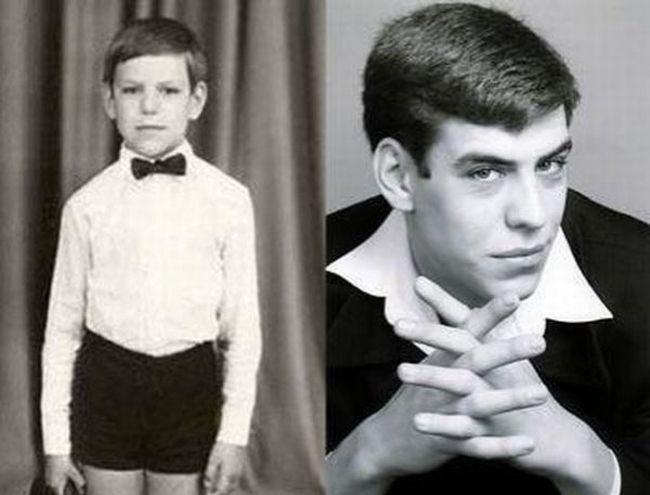Наши знаменитости в детстве и сейчас (24 фото)