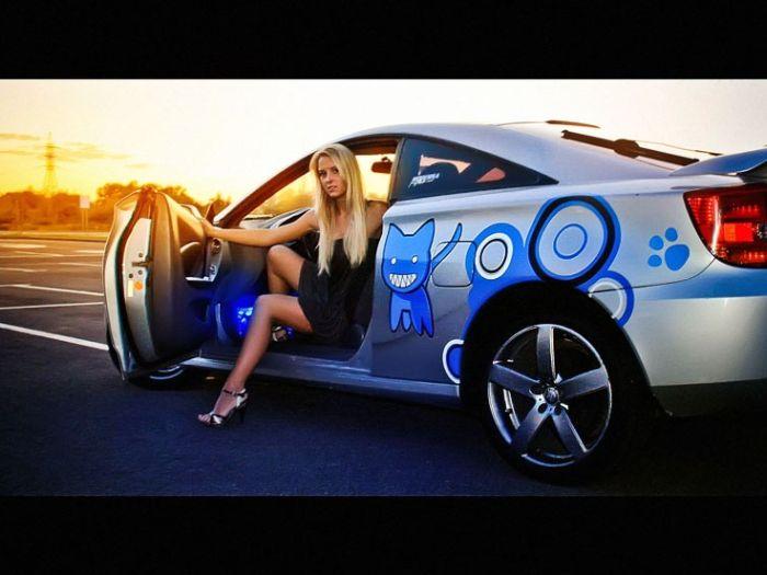 Русские девушки в машине фото 656-595