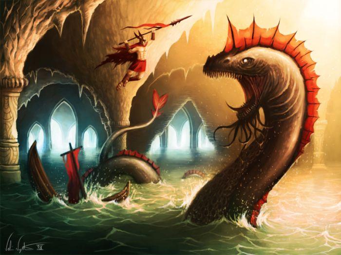 Самые страшные рисованные монстры (60 картинок)