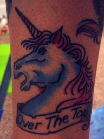 Худшие татуировки с единорогами (57 фото)