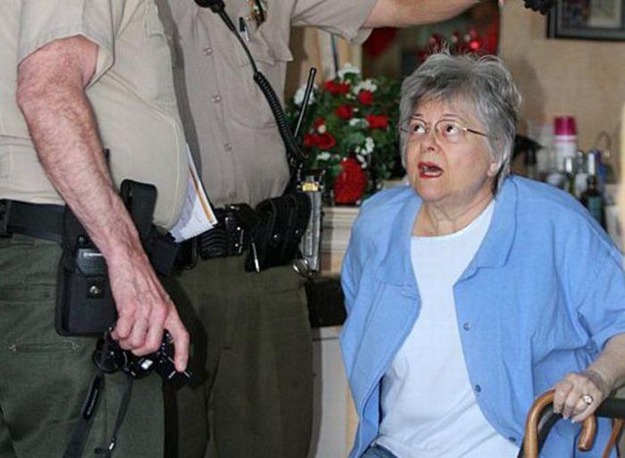 Бабуля разнесла парикмахерскую (7 фото)