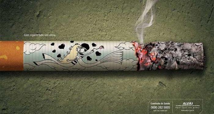 Креативная антитабачная реклама (43 фото)
