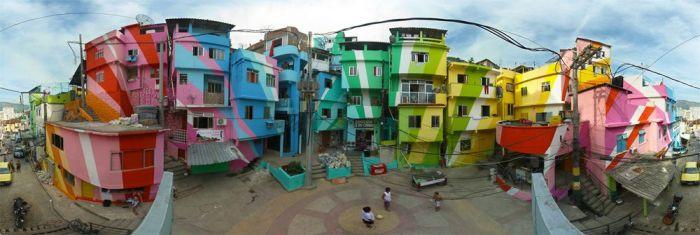 Яркий район Санта Марта (11 фото)