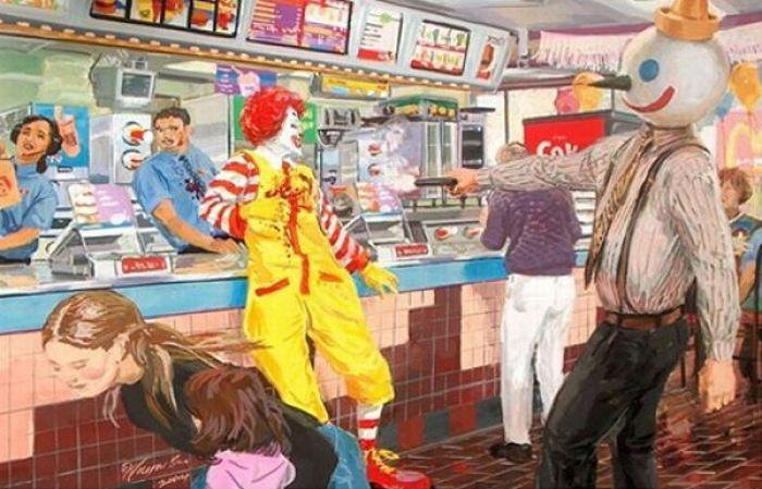Тяжелая жизнь Роналда Макдоналда (31 фото)