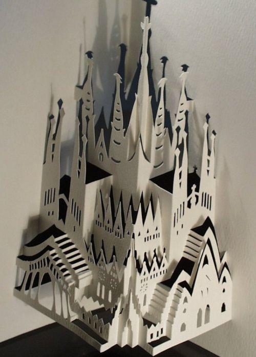 Красивая бумажная архитектура (20 фото)