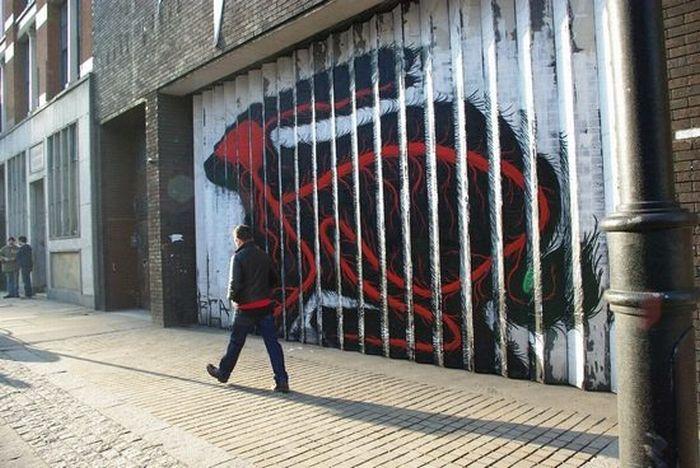 Граффити с животными (32 фото)