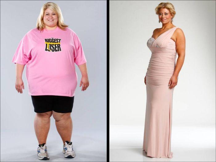 Участники шоу The Biggest Loser до и после шоу (23 фото)