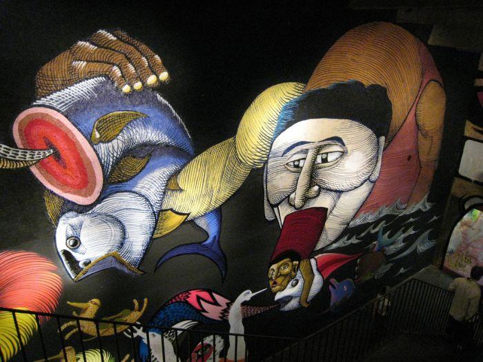 Классные рисунки на стенах (48 фото)