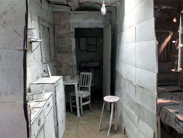 Квартиры из картона и бумаги (7 фото)