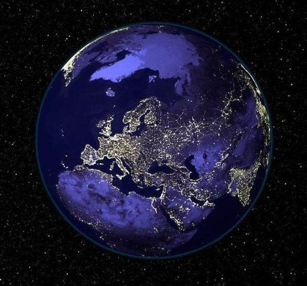 Наша планета ночью (6 фото)