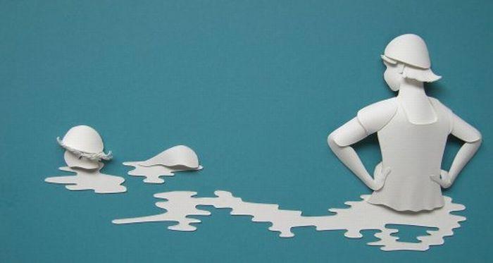 Бумажные скульптуры (23 фото)